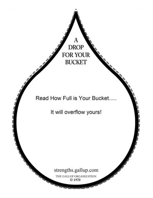 How Full Is Your Bucket Drop Printables Sketch Coloring Page